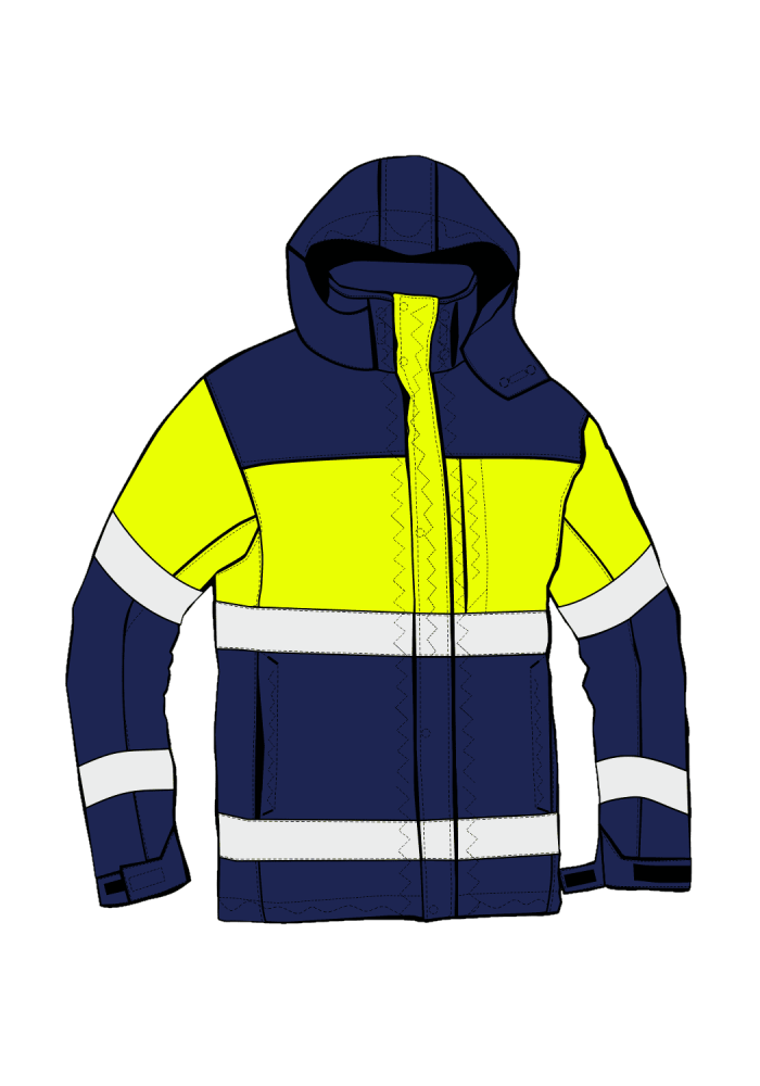 RESCUE AS JACKET HIVIS I XH