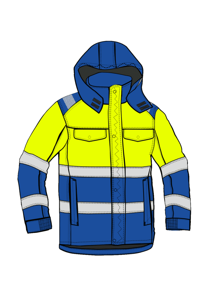 EAGLE ARCTIC GX CHEM JACKET HIVIS I XH